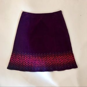 Boden A-Line Corduroy Ribbon Trim Skirt US 6